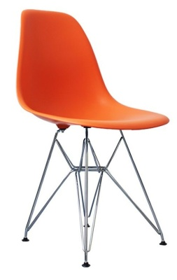 Eames Inspired Dsr Childs Chair In Orange Angle View
