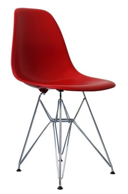 Eames Dsw Childs Chair In Red Angle View