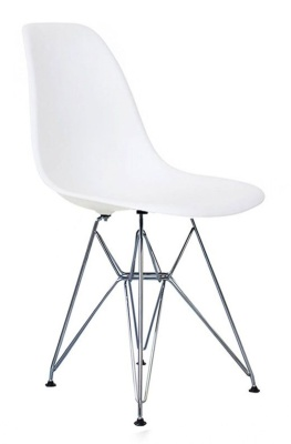 Eames Inspired Dsr Childs Chair In White Angle View