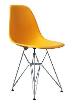 Eames Inspired Dsr Childs Chair In Yellow Angle View