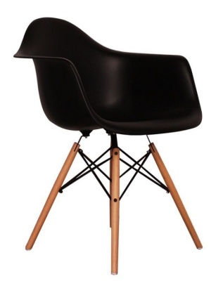 Eames Inspired Childs DAW Chair In Black Angle Shot