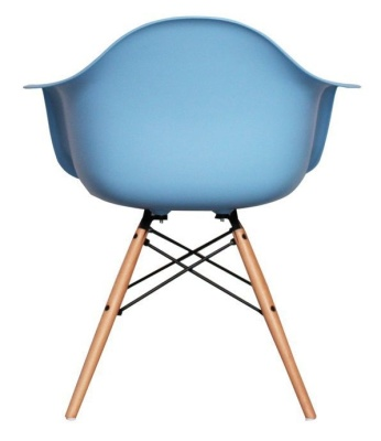 Eames Inspired DAW Childs Chair In Blue Rear View