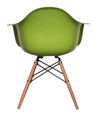 Eames Inspired Childs DAW Chair In Green Rear View