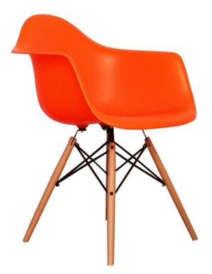 Eames Inspred DAW Childs Chair In Orange Angle View
