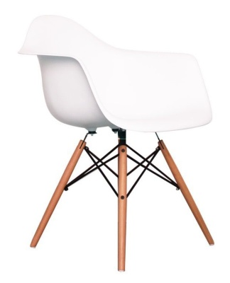 Eames Inspired DAW Childs Chair In White Angle View