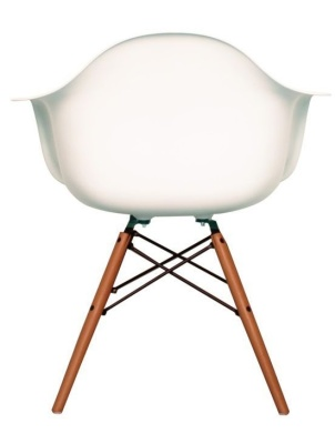 Eames Inspired Childs Daw Chair In Whire Trear View