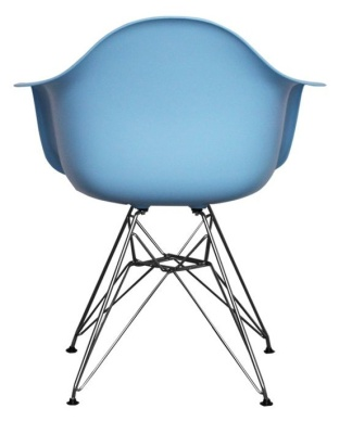Eames Inspired DAR Childs In Blue Rear View
