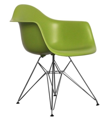 Eames Inspired DAR Junior Chair In Green Front Angle
