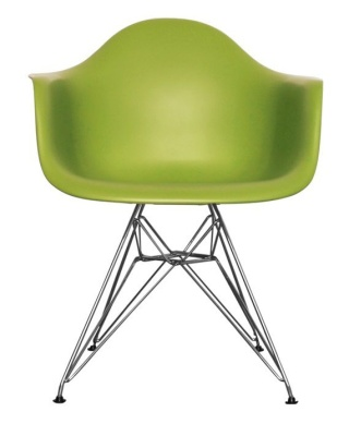 Eames Inspired Junior Dar Chair In Green Front View