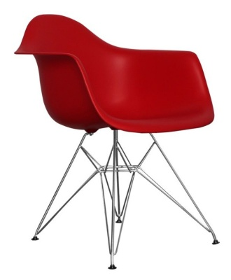 Eames Inpired DAR Junior Chair In Red Angle View