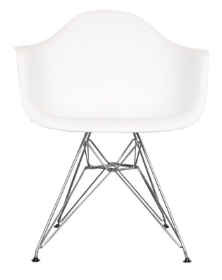 Eames Inspired Junior DAR Chair With A White Seat Front View
