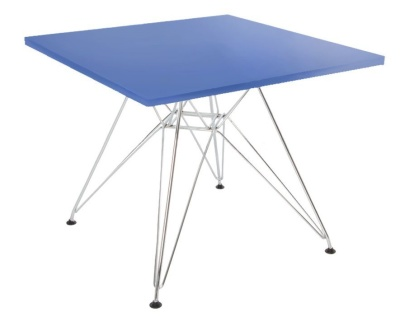 Eames Junior Dsr Table With A Square Top In Blue