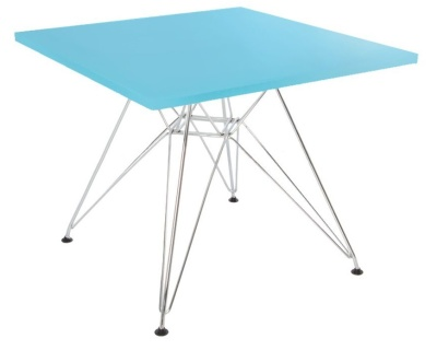 E3ames Junior Dsr Table With A Light Blue Top Angle Shot