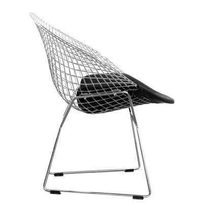 Diamond Chair With A Black Seat Side View