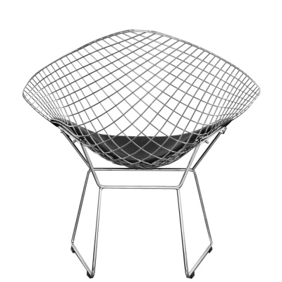 Diamond Chair With A Black Seat Rear View