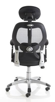 Ergo Tron Mesh Task Chair Rear View