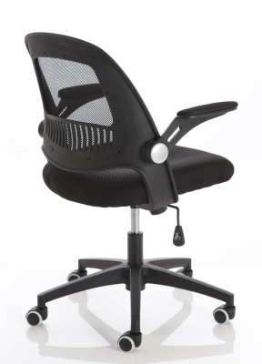 Copntext Mesh Chair With A Black Mesh Back Back Angle View