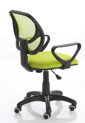 Turin Chair In Green Rear Angle View