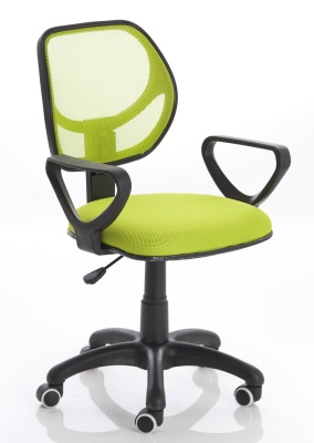 Turin Mesh Chair In Green Front Angle