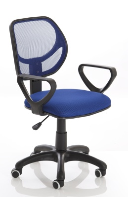 Turin Mesh Chair In Blue Angle View