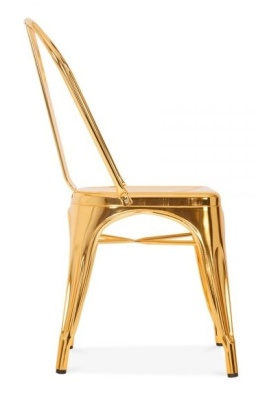Xavier Pauchard Tollix Chair In Gold Side View