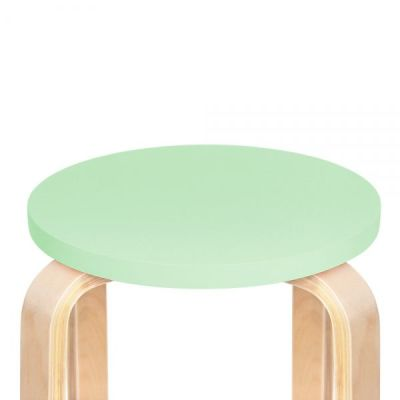Chill Wooden Stool Green Seat Detail