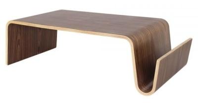 Dakota Walnut Bentood Coffee Table