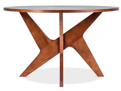 Icon Round Walnut Dining Table 3