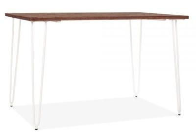 Hairpin Rectangular Table White Frame 1