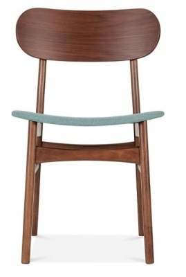 Ontario Designer Dining Chair With A Teal Seat Front Shot