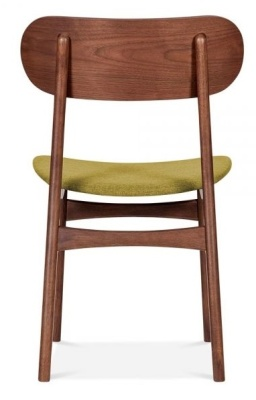 Ontario Chair With An Olive Fabric Seat Rear View