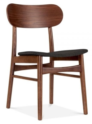 Ontario Dining Chair With A Dark Grey Seat Front Angle