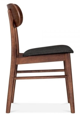 Ontario Dining Chair With A Dark Grey Seat From The Side