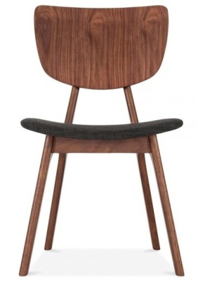 Polly Dining Chair Dark Grey Fabric Front View