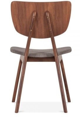 Polly Dining Chair With A Light Grey Seat Rear View