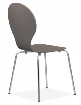 Butterfly Chair In Warm Grey Rear Angle