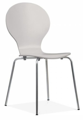 Butterfly Chair In Light Grey Front Angle