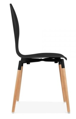 Bhutterfly Nouveau Chair In Black Side View