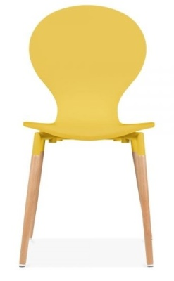 Butterflly Nouveau Chair In Yellow Front Face
