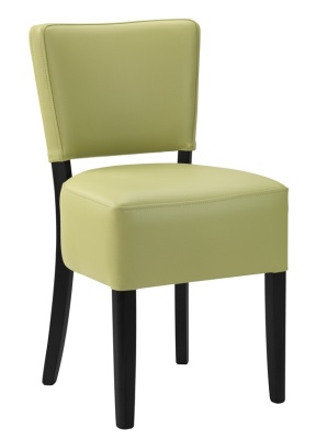 Dinjon Exopress Faux Leather Dining Chair Lime With Black Frame
