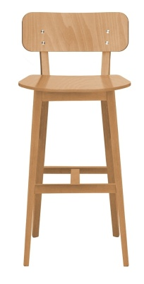 Luciano Wooden High Stool