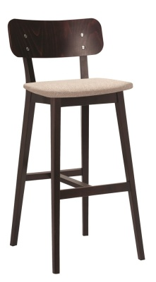 Lanciano High Stool With An Upholstered Seat Angle