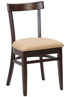 Michigan Dining Side Chair With Upholstered Seat