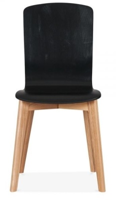 Montrose Dining Chair In Black Front View