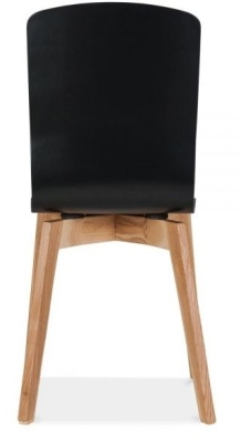Montrose Dining Chair In Black Rear View