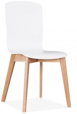 Montrose White Dining Chair Angle View