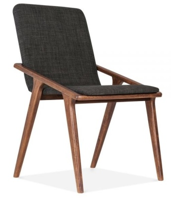 Welbeck Chair Dark Grey Fabric Angle Shot