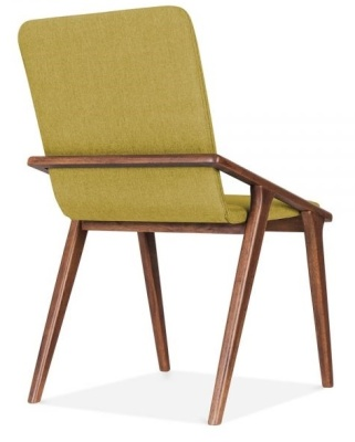 Welbec Chair Olive Fabric Rear Angle