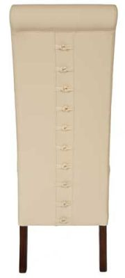 Eton Chair Knotted Back Ivory Leather