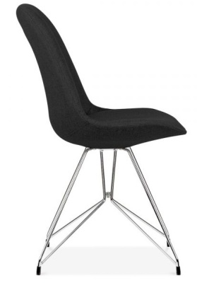 Geometric Chair Black Fabric Side View